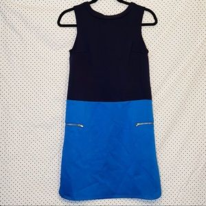 Merona XS Shift Dress Blue Sleeveless Above Knee